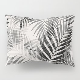 Palm Leaves - Black & White Pillow Sham