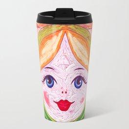 Russian Matryoshka Nesting Doll in Colour Travel Mug