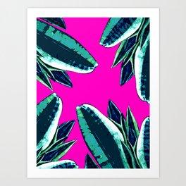 Dusk in summer Art Print