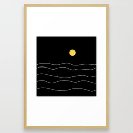 Black Ocean Framed Art Print