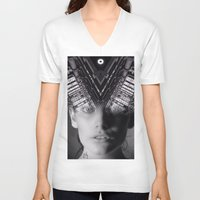 metropolis V-neck T-shirts featuring Metropolis by Cash Mattock