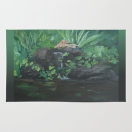 Fountain at the Zoo AC151223b-13 Rug