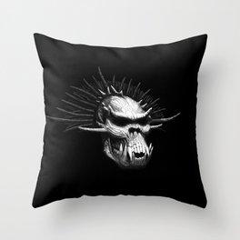 Troll Skull Throw Pillow