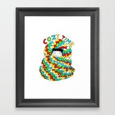 COZY TIME Framed Art Print