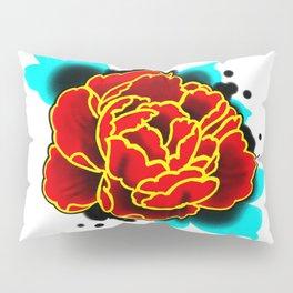 Red Peony  Pillow Sham