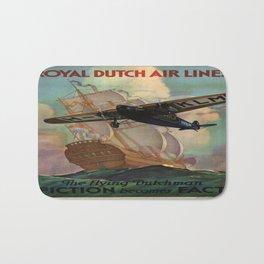 Vintage poster - Royal Dutch Airlines Bath Mat
