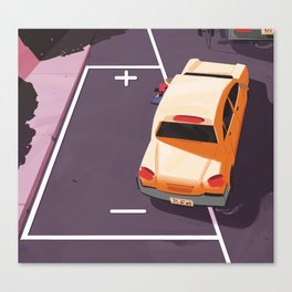 Battery parking Canvas Print