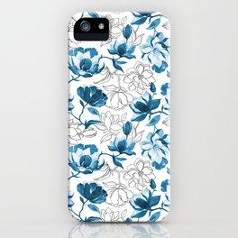 Blue Magnolia iPhone Case