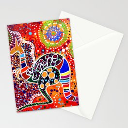 BORA THE KANGAROO 3 Stationery Cards