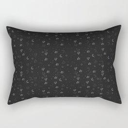 Minimal Pattern :: Black Triangle Moon Rectangular Pillow
