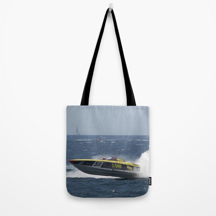 Powerboat Racing Tote Bag