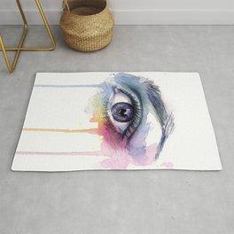 Colorful Eye Dripping Rainbow Rug