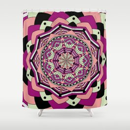 Pink Mountains Shower Curtain