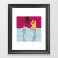 Help me Framed Art Print