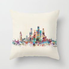 Singapore city skyline Throw Pillow
