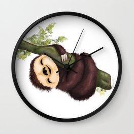 Sloth 2 Wall Clock