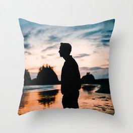 First Beach Throw Pillow