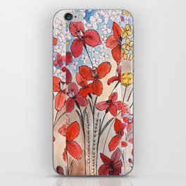 Summer Irises and blossoms iPhone Skin