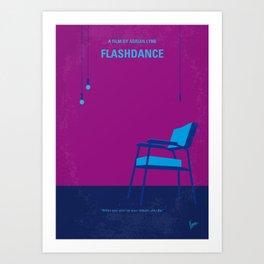 No1002 My Flashdance minimal movie poster Art Print