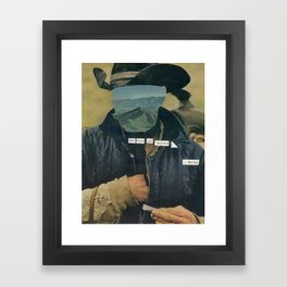 once young Framed Art Print