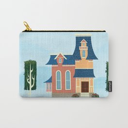 Vintage-Animation-Style House Carry-All Pouch