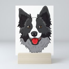 Border Collie Collies Lover Christmas Dog Collies Mini Art Print
