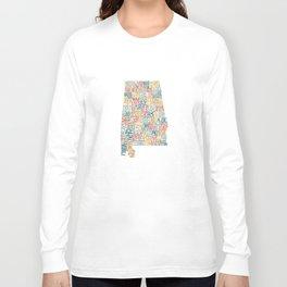 Alabama by County Long Sleeve T-shirt