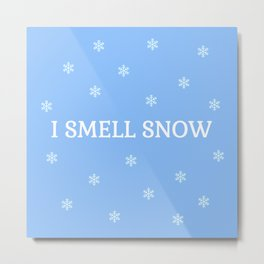 The Snow Lover Metal Print