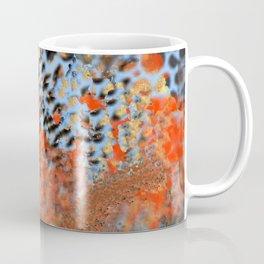 Blue, Orange, Black, Explosion Abstract Coffee Mug