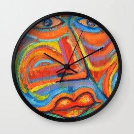 Retrato Seria pasión Wall Clock