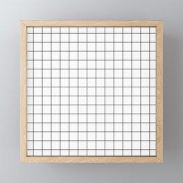 White Grid Framed Mini Art Print