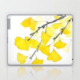Golden Ginkgo Leaves Laptop & iPad Skin