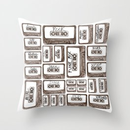 Love is a Mixtape Throw Pillow