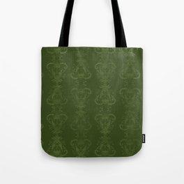 Carnivorous Damask (Lime) Tote Bag