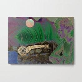 Artist Trading Card 021 - Big Wheel Keep on Turning Metal Print