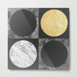Geometric collage XII Metal Print