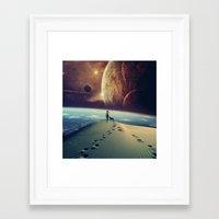 dog Framed Art Prints featuring Explorer by POP.
