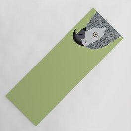 African Grey Parrot [ON MOSS GREEN] Yoga Mat