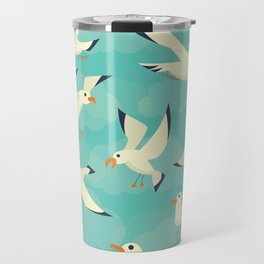 Vintage Seagulls Sketchbook Style Travel Mug