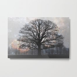 lonely tree in the fantasy land Metal Print