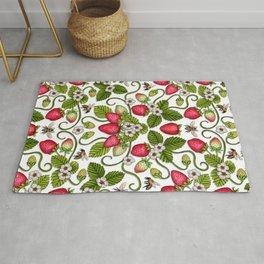 Strawberries & Honey Bees - Spring/Summer Pattern Rug