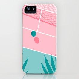 Jock - tennis sport retro neon throwback palm springs los angeles hollywood california sunny pop art iPhone Case