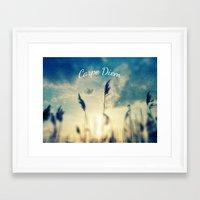 carpe diem Framed Art Prints featuring Carpe Diem by Sandra Arduini