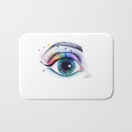 Eye see rainbows Bath Mat