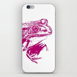 pink frog IV iPhone Skin