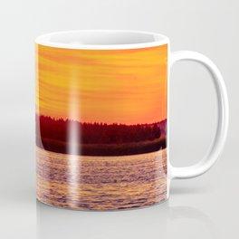 Fiery sunset on the Pike lake Coffee Mug