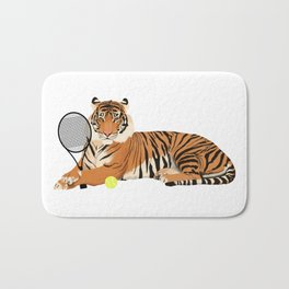 Tennis Tiger Bath Mat