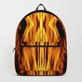 Flame Pattern Fire Astract Backpack