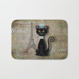 Le Chat, La Reine - The Cat, The Queen Bath Mat
