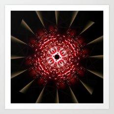 Fractal Fireball Art Print